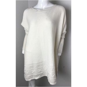 Style Co. Womens Quilted Ribbed Knit Trim Sweater